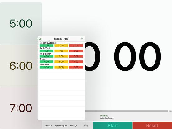 Speech Timer Free iPad Screenshot 5