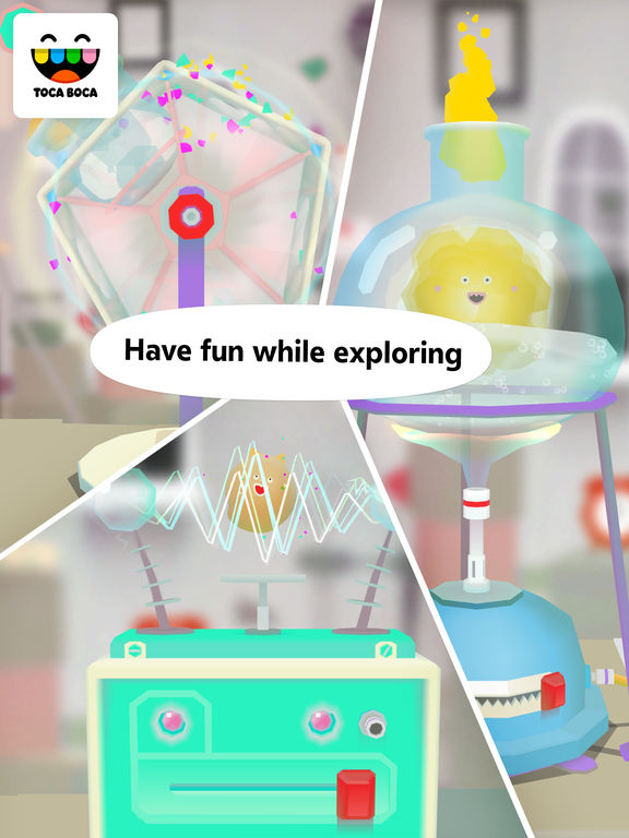 Screenshots of Toca Lab for iPad