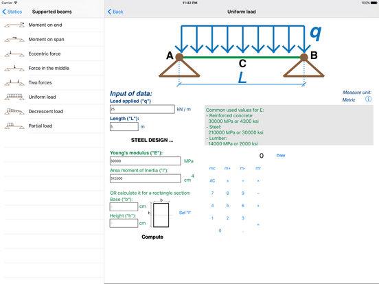 Statics (Civil Engineering) iPad Screenshot 2
