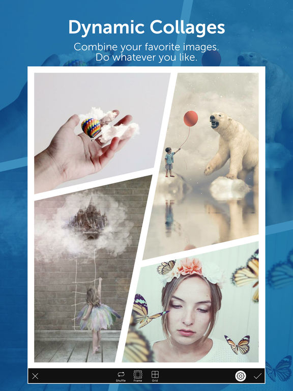 Screenshots of PicsArt Photo Studio - All-in-one photo editor & collage maker for iPad