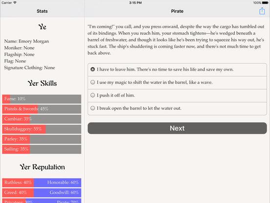 Choice of the Pirate для iPad