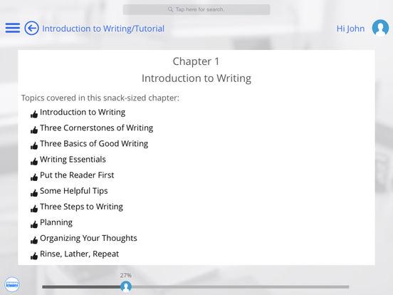 Writing for iPad iPad Screenshot 1