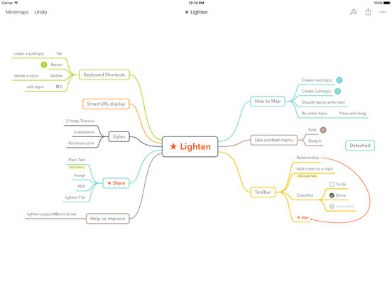 Screenshot #2 for Lighten - Brainstorming & Mind Mapping by XMind