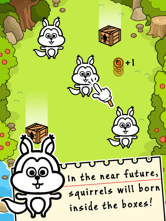 Squirrel Evolution - Tap Coins of the Crazy Mutant Simulator Idle Game-ipad-0