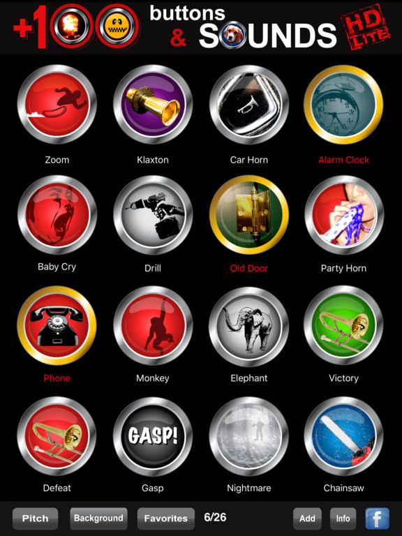 +100 Buttons and Sounds Ultimate HD Lite screenshot