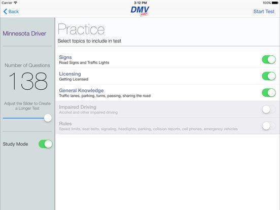 DMV Test Prep - Minnesota iPad Screenshot 2