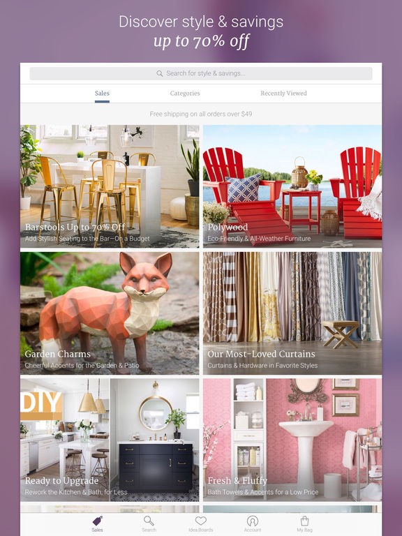 App shopper joss main beautiful decor beautifully priced shopping Home decor joss and main