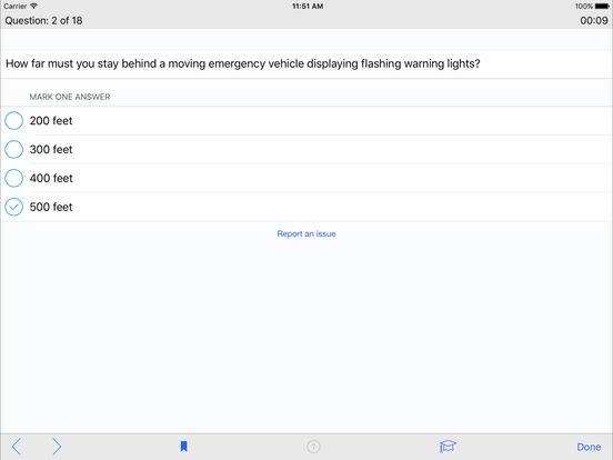 DMV Test Prep - Rhode Island iPad Screenshot 3