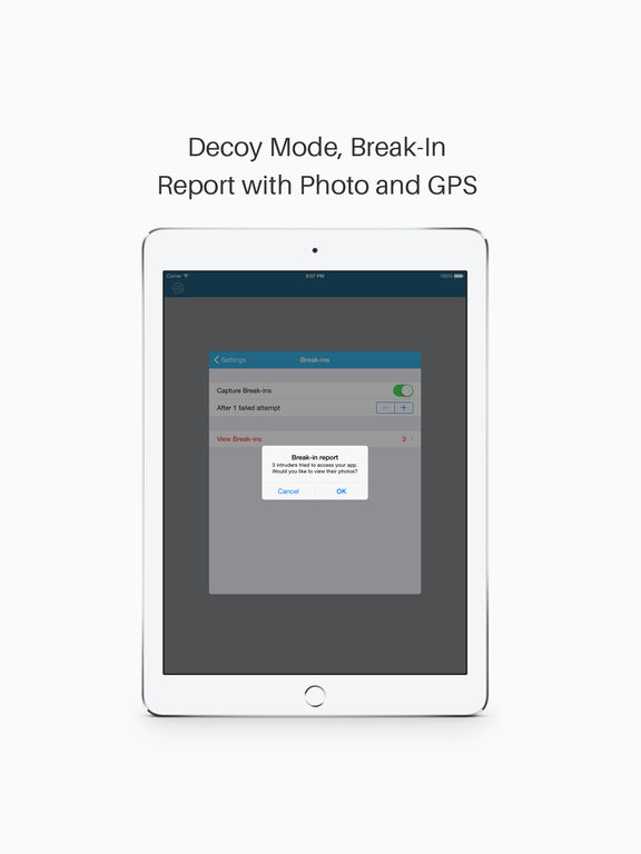 Pocket Files - Private Photo, Video and Document Vault+Lock+Hide Photos & Folders Manager Screenshot