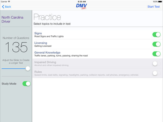 DMV Test Prep - North Carolina iPad Screenshot 2