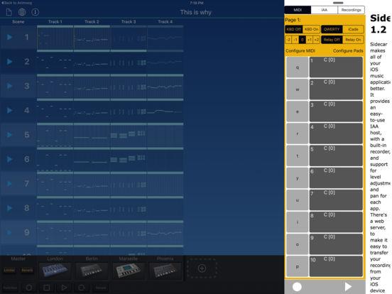 Sidecar MIDI Controller Screenshots