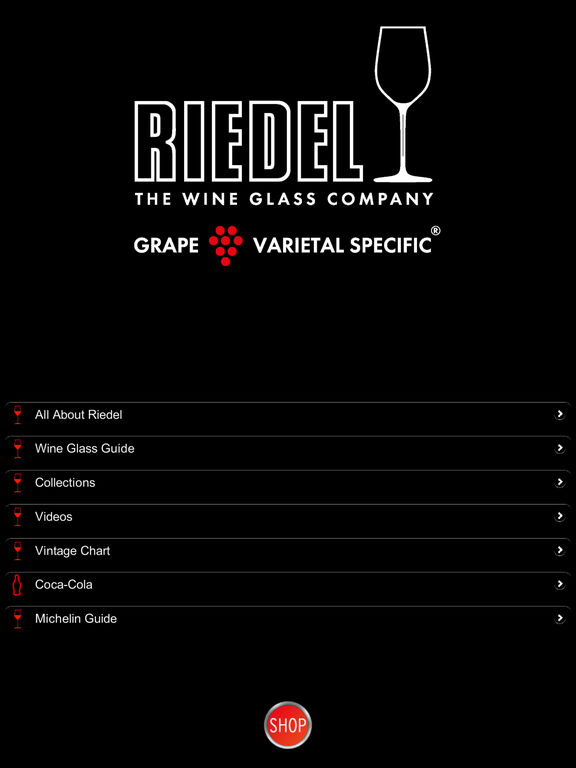 Riedel Wine Glass Guide screenshot