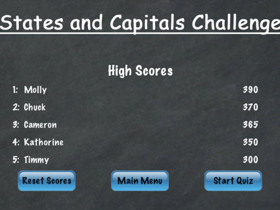 States and Capitals Challenge – Flash Cards Speed Quiz for the United States of America iPad Screenshot 3
