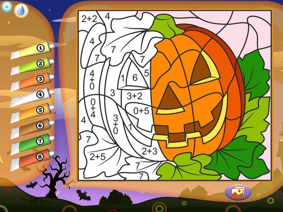 Раскрась по номерам - Хэллоуин - Бесплатно
