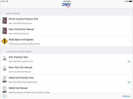 DMV Test Prep - New York iPad Screenshot 1