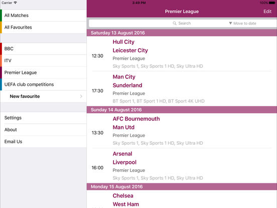 Live Football On TV with Sky+ Remote Record screenshot