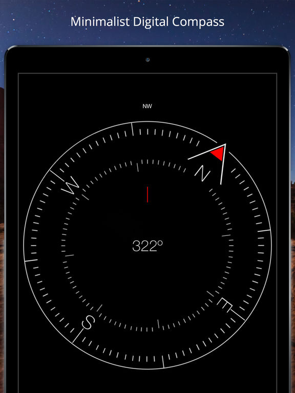 Compass Heading - Minimalist, Magnetic, Digital Direction Finder screenshot