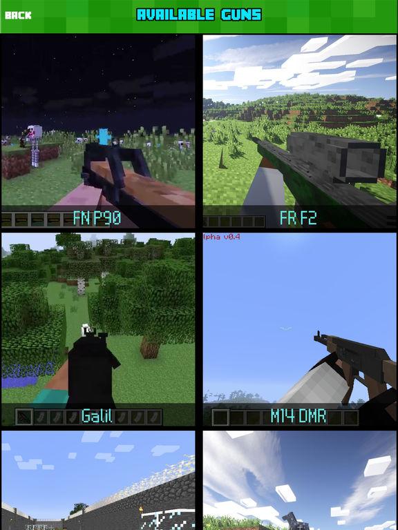 GUN MOD FREE - Weapon & War Gun For Minecraft Game PC Edition-ipad-1