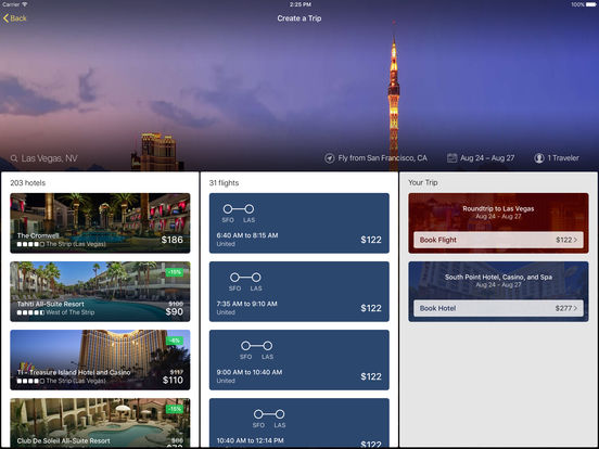 Expedia Hotels, Flights, Cars & Activities screenshot
