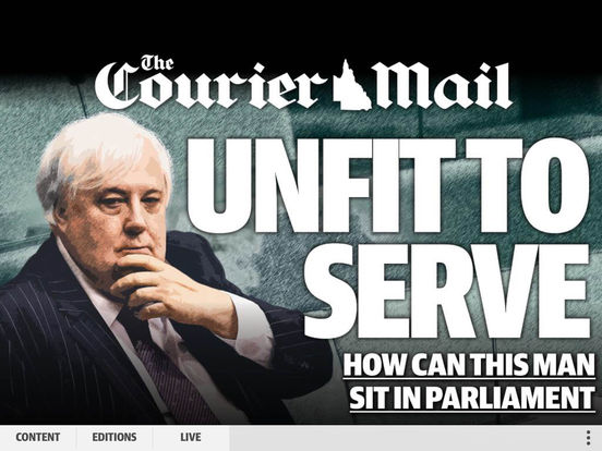 The Courier-Mail/The Sunday Mail iPad Screenshot 1