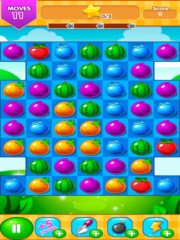 Gummy Fruit Cascade Drop Mania for iOS - New Match 3 Game with a Twist Image