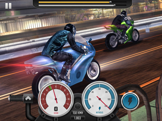 Screenshots of Top Bike: Racing Real Speed & Best Moto Drag Racer for iPad