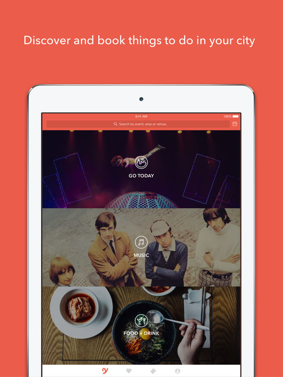 YPlan – event discovery app for nightlife, concerts, theater, sports, local shows and events in New York, San Francisco, Las Vegas and London screenshot