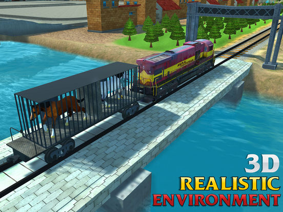 Screenshots of Horse Transport Train Simulator 3D – A locomotive Transporter Simulation for iPad