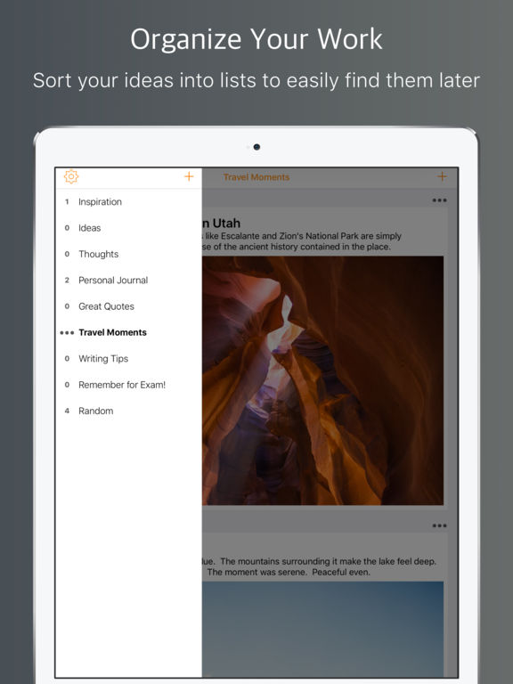 Mercury Ideas - Capture Inspiration.  Record Your Plans Screenshots