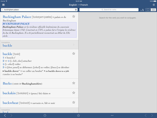 Collins Pro French-English Translation Dictionary iPad Screenshot 3