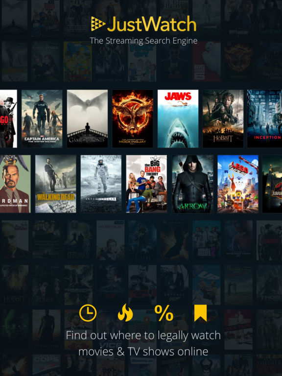 JustWatch: Streaming Search Engine for Movies & TV Shows screenshot