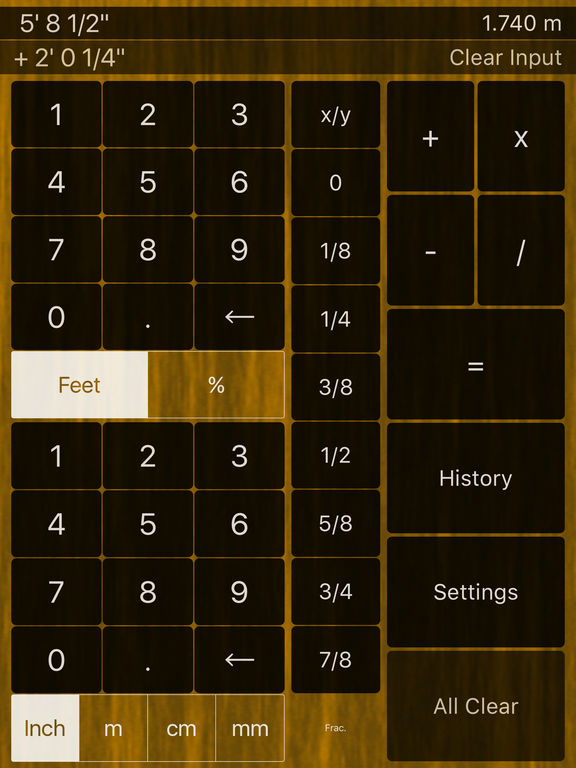 feet inches calculator on the app store. Black Bedroom Furniture Sets. Home Design Ideas