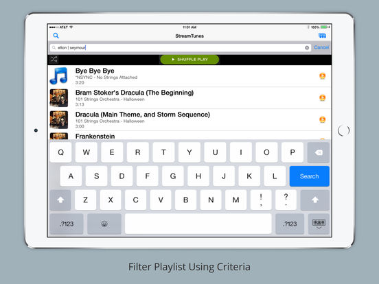 iStreamTunes iPad Screenshot 3