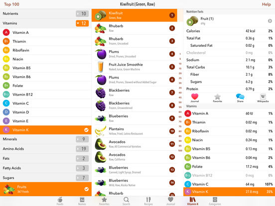 MyFood - Nutrition Facts iPad Screenshot 4
