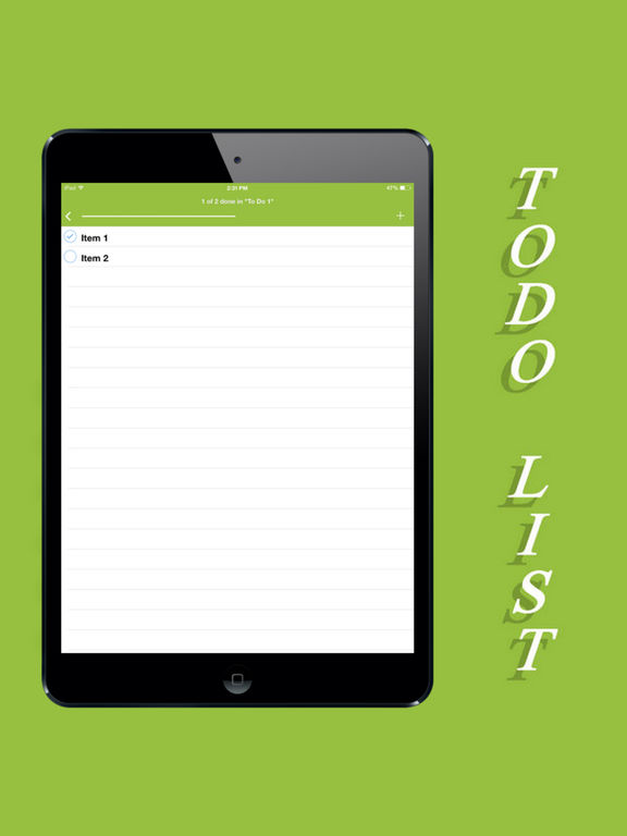 ToDo List & Grocery Helper Screenshots