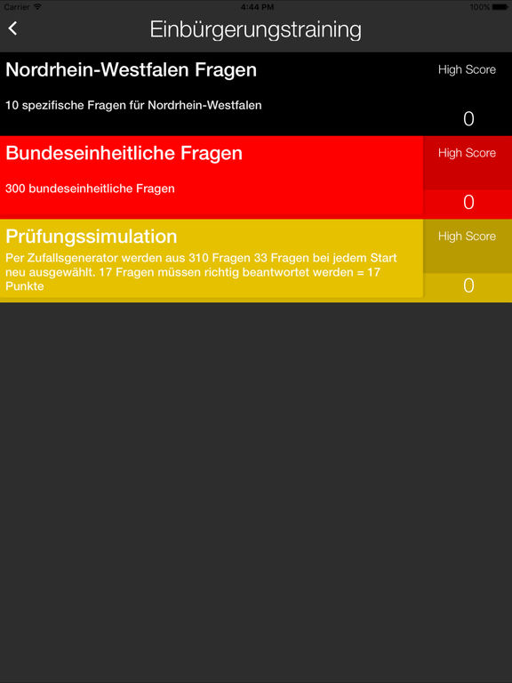 Einbürgerungstrainer 2017 Screenshots