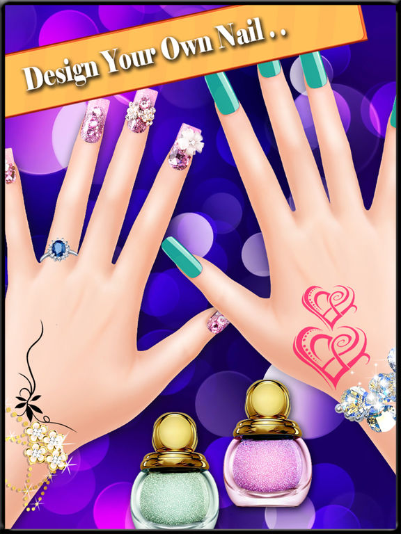 app shopper nail art design girls game games. Black Bedroom Furniture Sets. Home Design Ideas