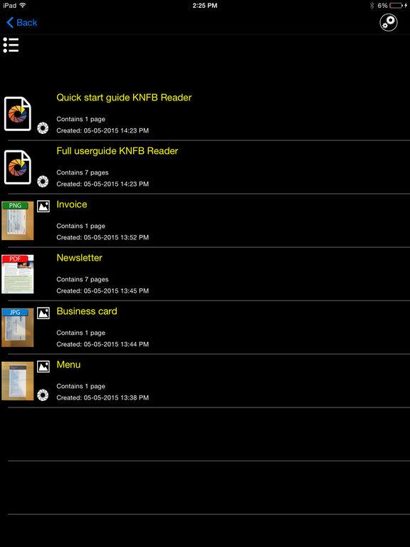KNFB Reader Screenshots