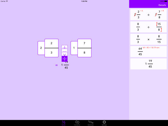 Fraction Help iPad Screenshot 3