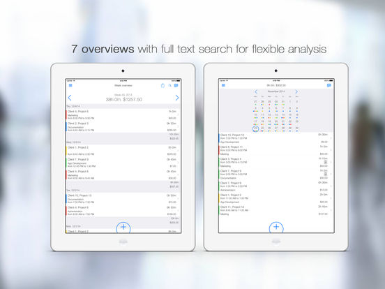 TimeTrack - Timesheet and Invoicing Screenshot