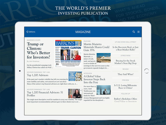 Barron's – Global Stock Markets & Financial News Screenshots