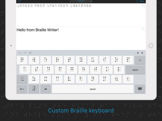 Braille Writer iPad Screenshot 2