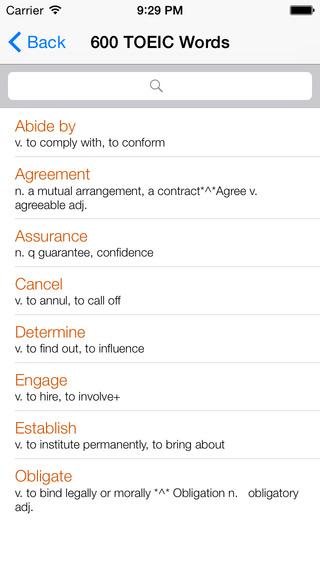 TOEIC Vocabulary Test Skill