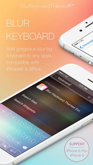 Blur Keyboard Themes Extension - 50+ Keyboard Skins Design Custom Keyboard for iOS 8