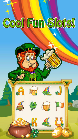 A Mega Irish Slots Machines Gold Pot Jackpot Rainbow Party 2015