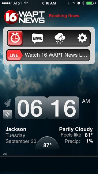 Alarm Clock 16 WAPT News - Jackson
