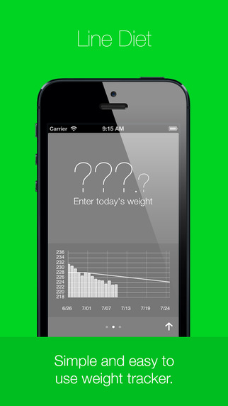 Line Diet Weight Tracker