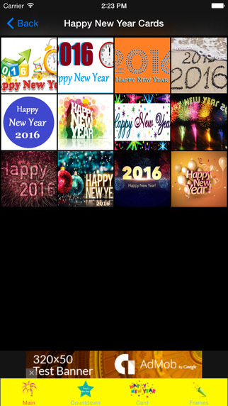 Happy New Year Cards Frames
