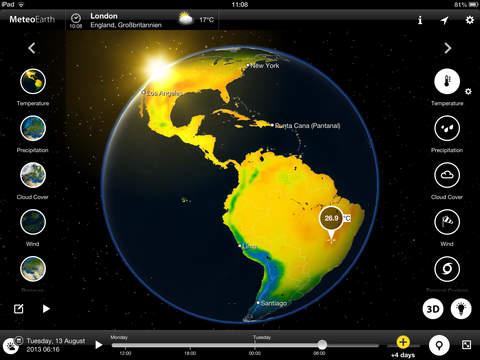 MeteoEarth for iPad