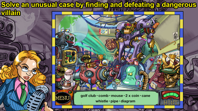 Hidden Objects: Detective Sherlock Pug and the Case of the Skindiver